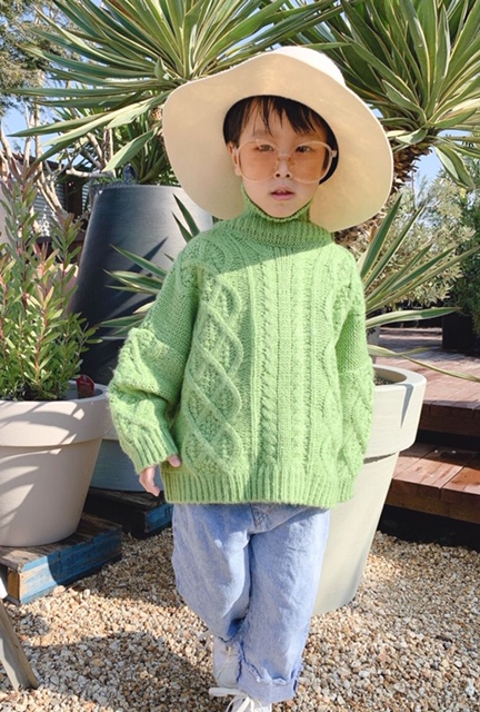 Turtle knit tops(kids)