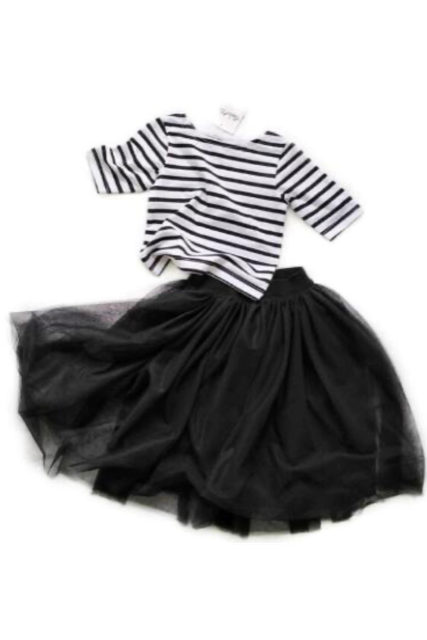 Border tops×skirt set(kids.mama)