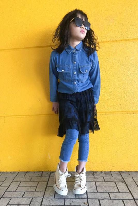LaceSK付きdenim(kids)