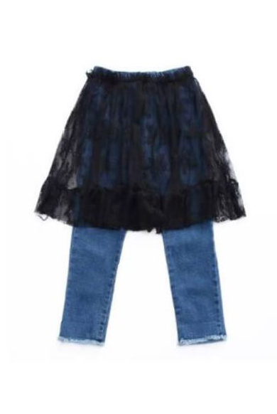 LaceSK付きdenim(kids)【¥500off】