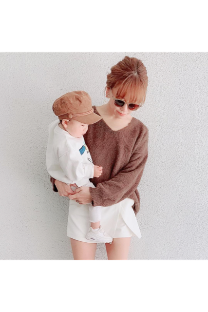 SS color knit(mama)