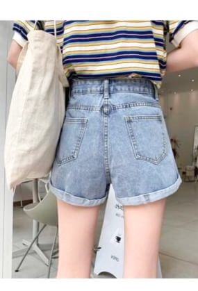 Denim short pants(mama)【特別価格】