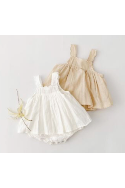 Cotton natural rompers(kids)【限定価格】