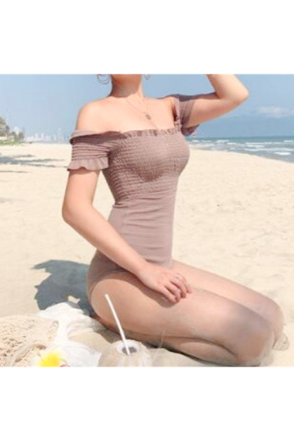 Off shoulder swim wear(mama)【特別価格】