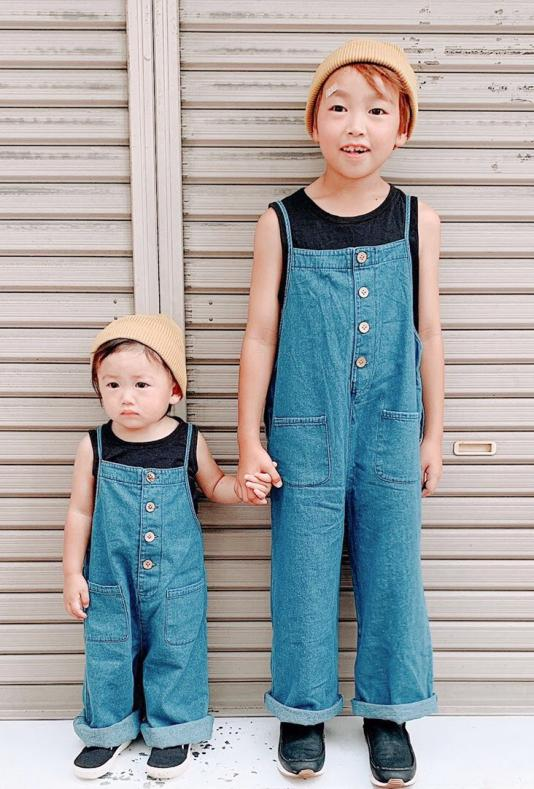 Tops×salopette set(kids)