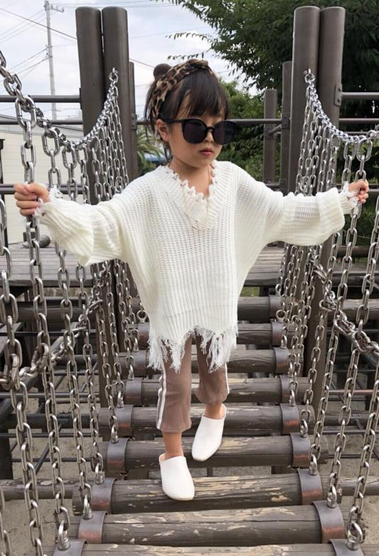 裾ダメージknit(kids.mama)【SALE】