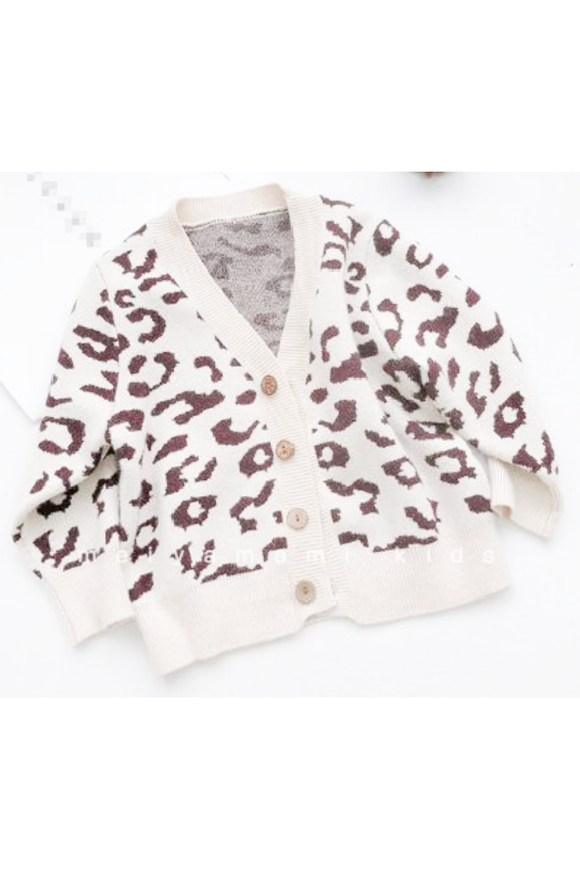 Leopard knit cardigan(kids)