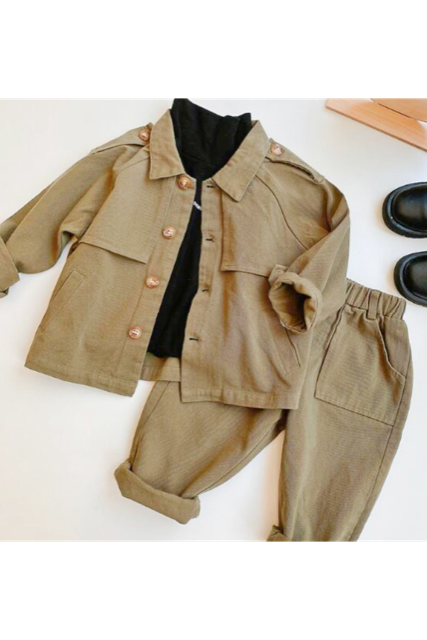 Shirt coat×bottom set(kids)