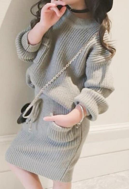 Knit tops×skirt set(kids)