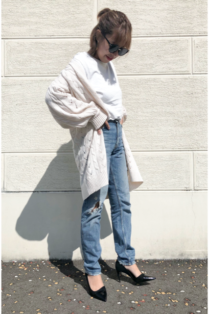 Over knit cardigan(mama)【即日発送】