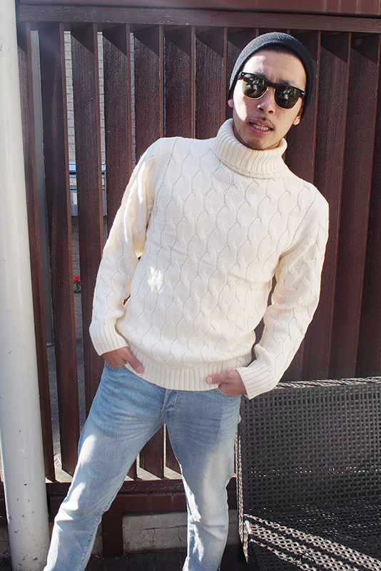 Turtleneck knit(men's)即日発送